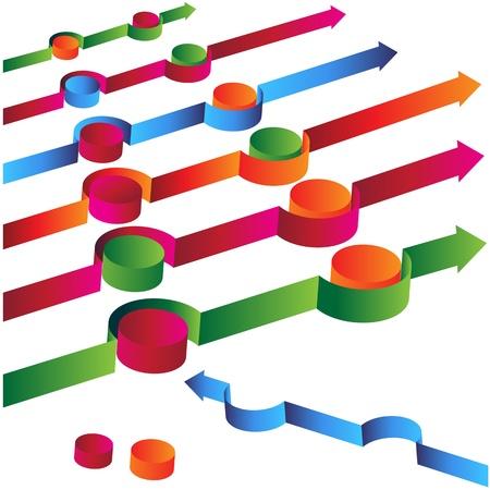avoiding: An image of a 3d arrow avoiding obstacles.