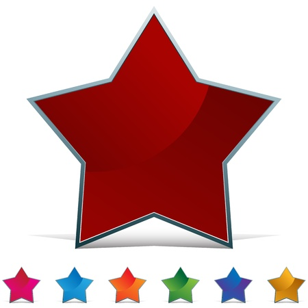 An image of a star web button. Stock Vector - 11012187