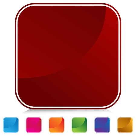 角の丸い正方形ウェブ ボタンの画像。