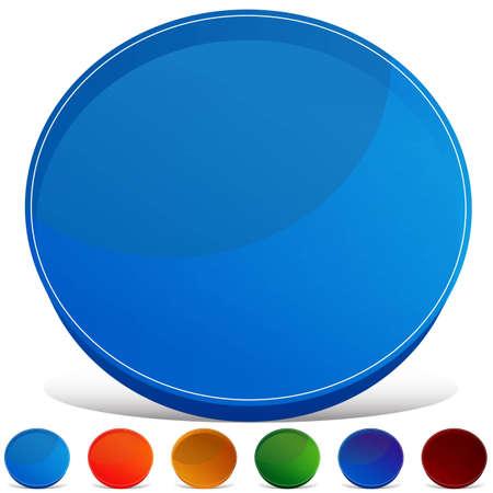 An image of a circle gemstone button set. Stock Vector - 11153730