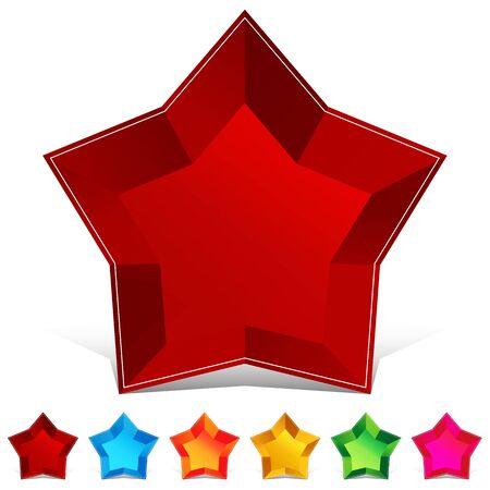 Een afbeelding van een ster edelsteen knop set.