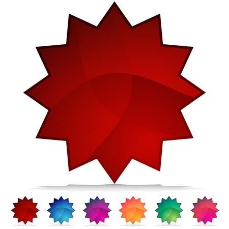 starbursts: Una imagen de un conjunto estelar de mosaico de cristal bot�n. Vectores