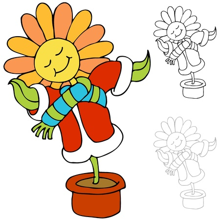 warm clothes: An image of a flower being kept warm.
