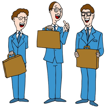 An image of a legal men wearing blue suits. Vector