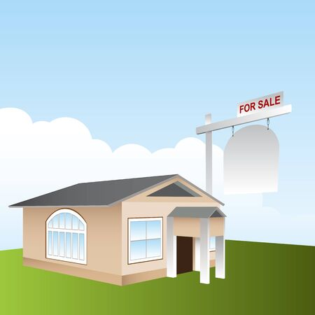 An image of a home for sale. Vector