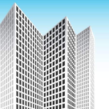 An image of a tall white set of skyscrapers. Stock Vector - 11386805