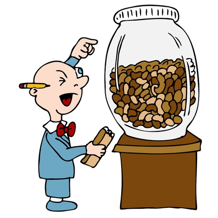 counting: An image of a bean counting accountant.