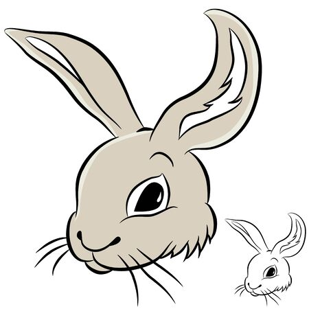 An image of a rabbit head. Vector
