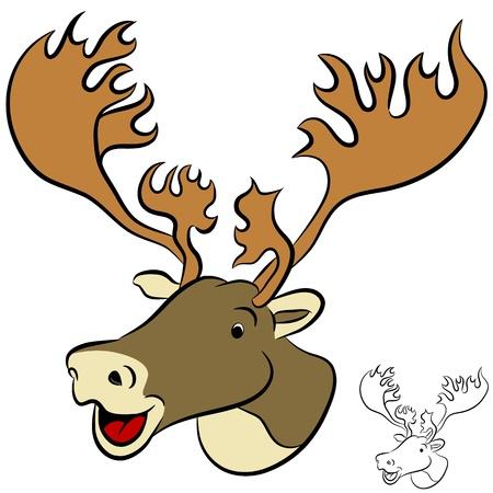 black deer: An image of a caribou.