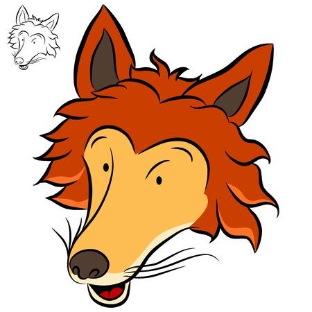 An image of a fox. Vector