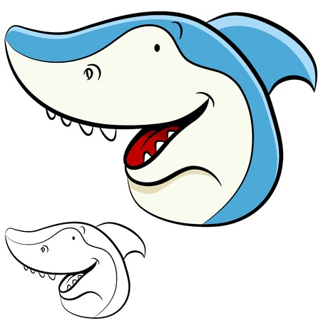 An image of a shark face. Stock Vector - 11865917