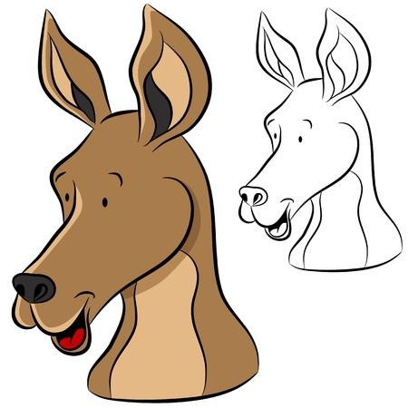 An image of a kangaroo face. Stock Vector - 11865919