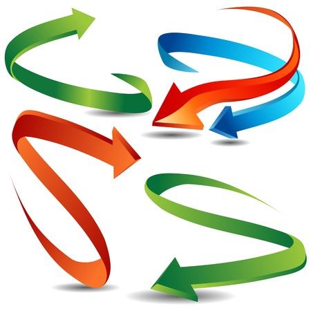 flecha azul: Una imagen de un conjunto flecha cinta r�pido. Vectores