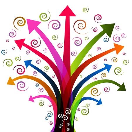 flecha direccion: Una imagen de una planta de �rbol flecha.