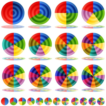 An image of a pie chart target icons.