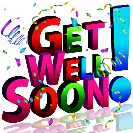 L'immagine di un messaggio di guarire presto.