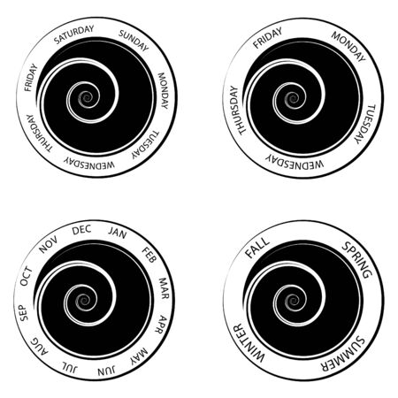 An image of a swirl center time wheels.