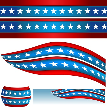 An image of a patriotic USA flag banners.
