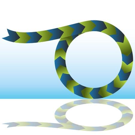 An image of a merging process arrow chart. Vector