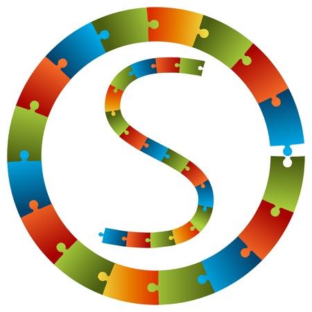 Una imagen de un conjunto gráfico de rompecabezas pieza.