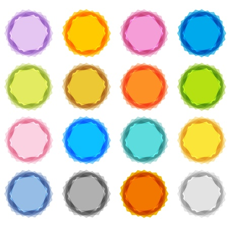 An image of a pastel fuzzy edged starburst set. Stock Vector - 12336909