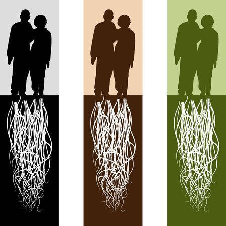 rooted: An image of a rooted married couple. Illustration