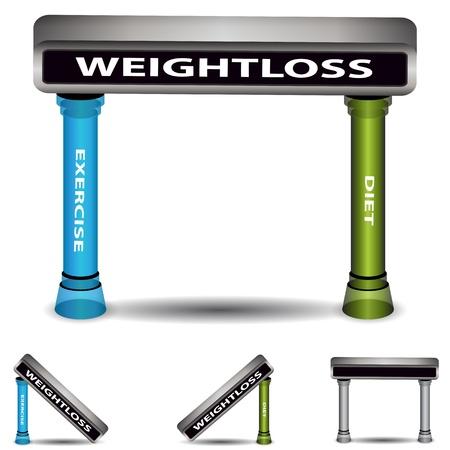 diet plan: An image of a weightloss plan chart.