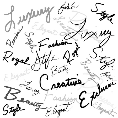 An image of a luxury handwriting words. Stock Vector - 12488847