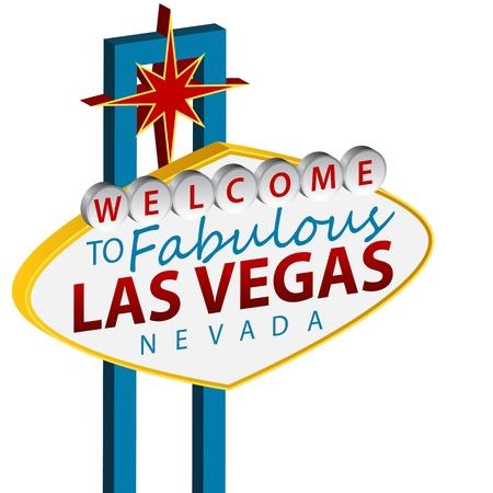 Een beeld van een welkom in Las Vegas teken.
