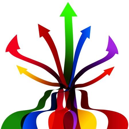 An image of a racing arrow ribbons.