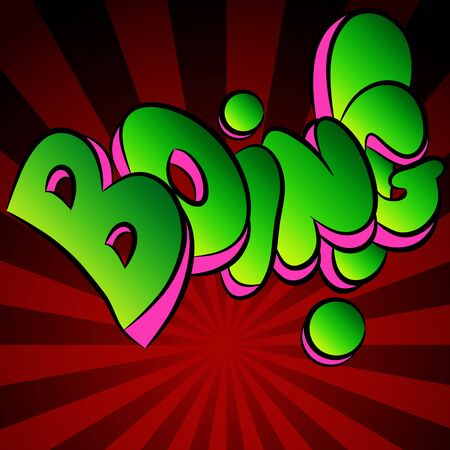 An image of a boing comic sound effect. Illustration