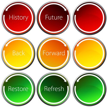 An image of a backward forward arrow button set.
