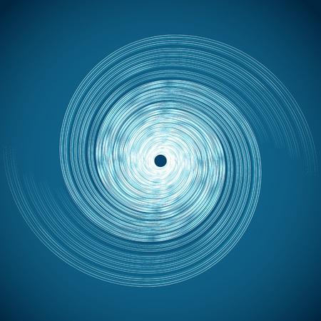 Una imagen de una espiral de huracanes. Ilustración de vector