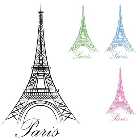 eiffel tower: Una imagen de un icono de la torre Eiffel de Par�s.