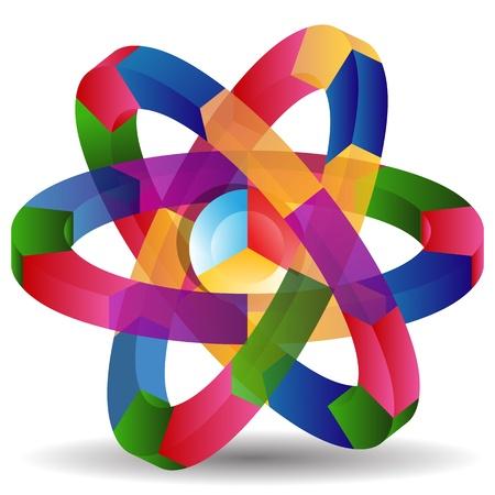 Ein Bild von einem Atom-Prozess Chart. Standard-Bild - 13335563