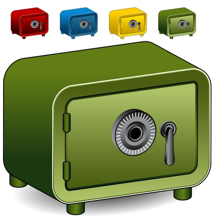 An image of a combination lock safe icon  Vector