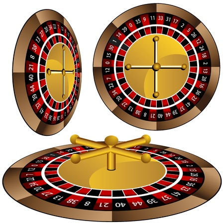 casino roulette: An image of a roulette wheel set