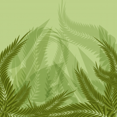 An image of a jungle forest background. Vector