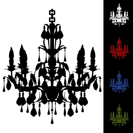 An image of a elegant chandelier. Vector
