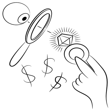 diamond clip art: An image of a diamond ring jewelry appraisal.