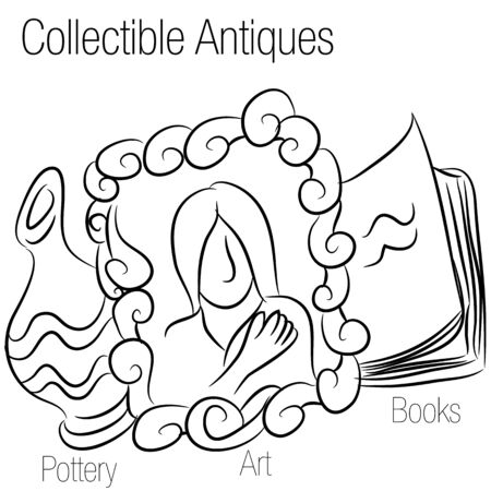 An image of a collectible antiques drawing.