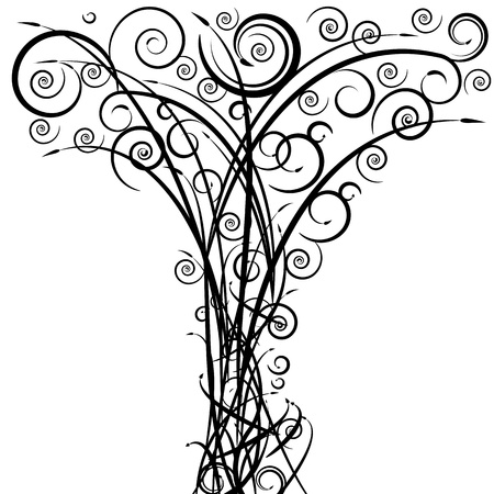 swirling: An image of a swirl arrow spiral tree.