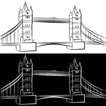 런던 브리지 드로잉의 이미지를 설정합니다. 일러스트