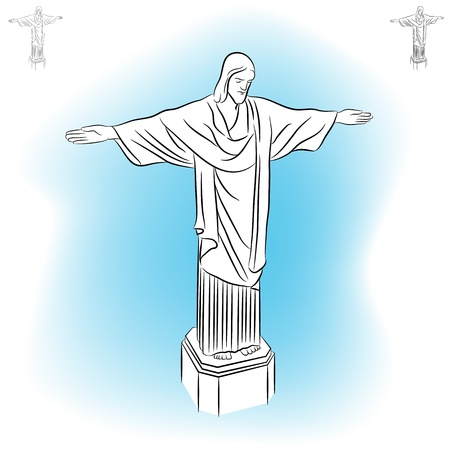 the redeemer: An image of the Christ redeemer statue.