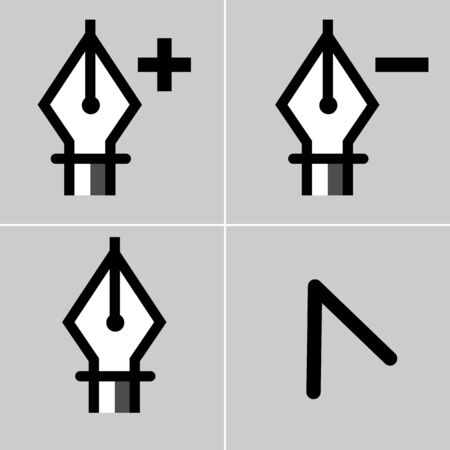 subtract: An image of a drawing tool icon set. Illustration