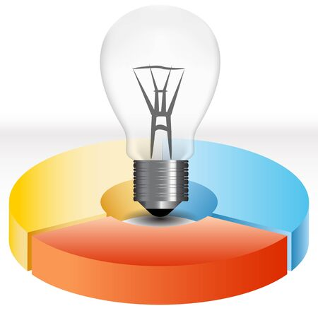 planning diagram: An image of a green energy lightbulb.