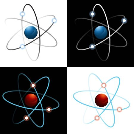 An image of a set of atom icons. Stock Vector - 14872578