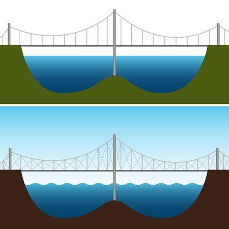 Ein Bild von einer Brücke Diagramm. Vektorgrafik