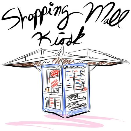 retail display: An image of a shopping mall kiosk.