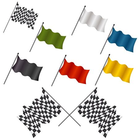 An image of a set of racing flags. Stock Vector - 15488522